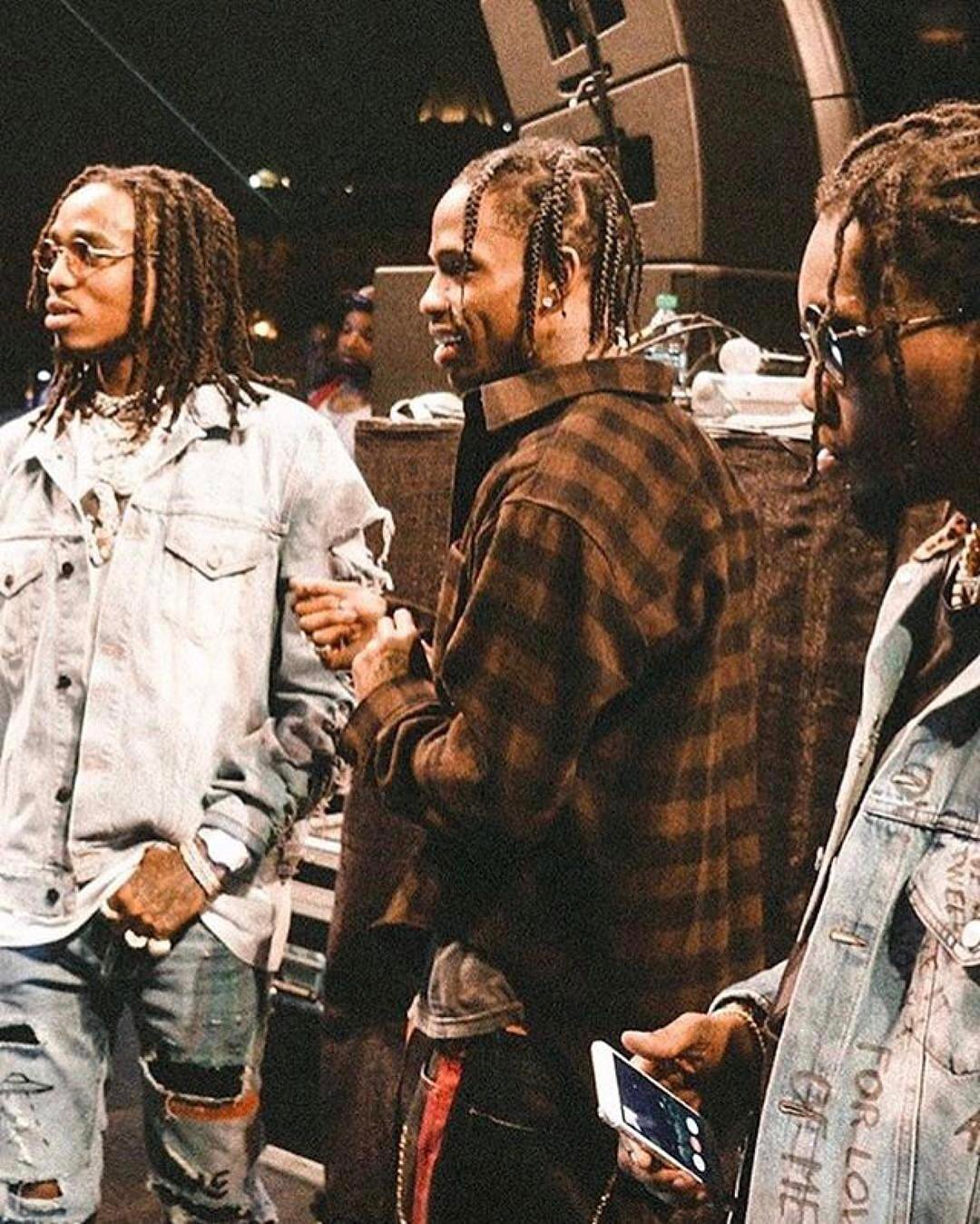 SPOTTED: Travis Scott, Quavo And Offset In Balenciaga And Gucci