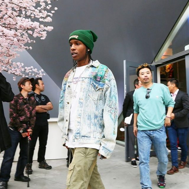 SPOTTED: A$AP Rocky in Guess Jacket and Thrasher Beanie
