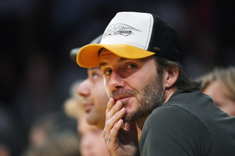 SPOTTED: David Beckham in DQM Spirit of Freedom Hat