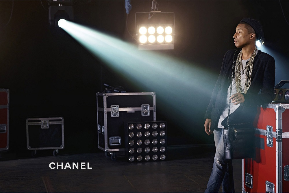 Pharrell Williams in Chanel Gabrielle Bag Campaign Video