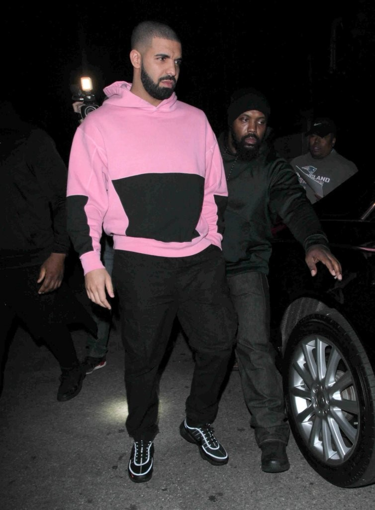SPOTTED: Drake in Cav Empt Hoodie, Stone Island Pants and Nike Sneakers