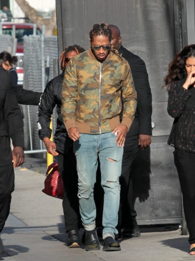 SPOTTED: Future in Amiri Camo Jacket and Saint Laurent Jeans