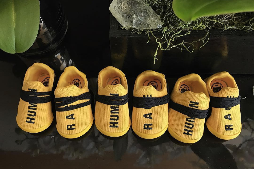 """Pharrell Just Unveiled """"Human Race"""" Baby NMDs"""