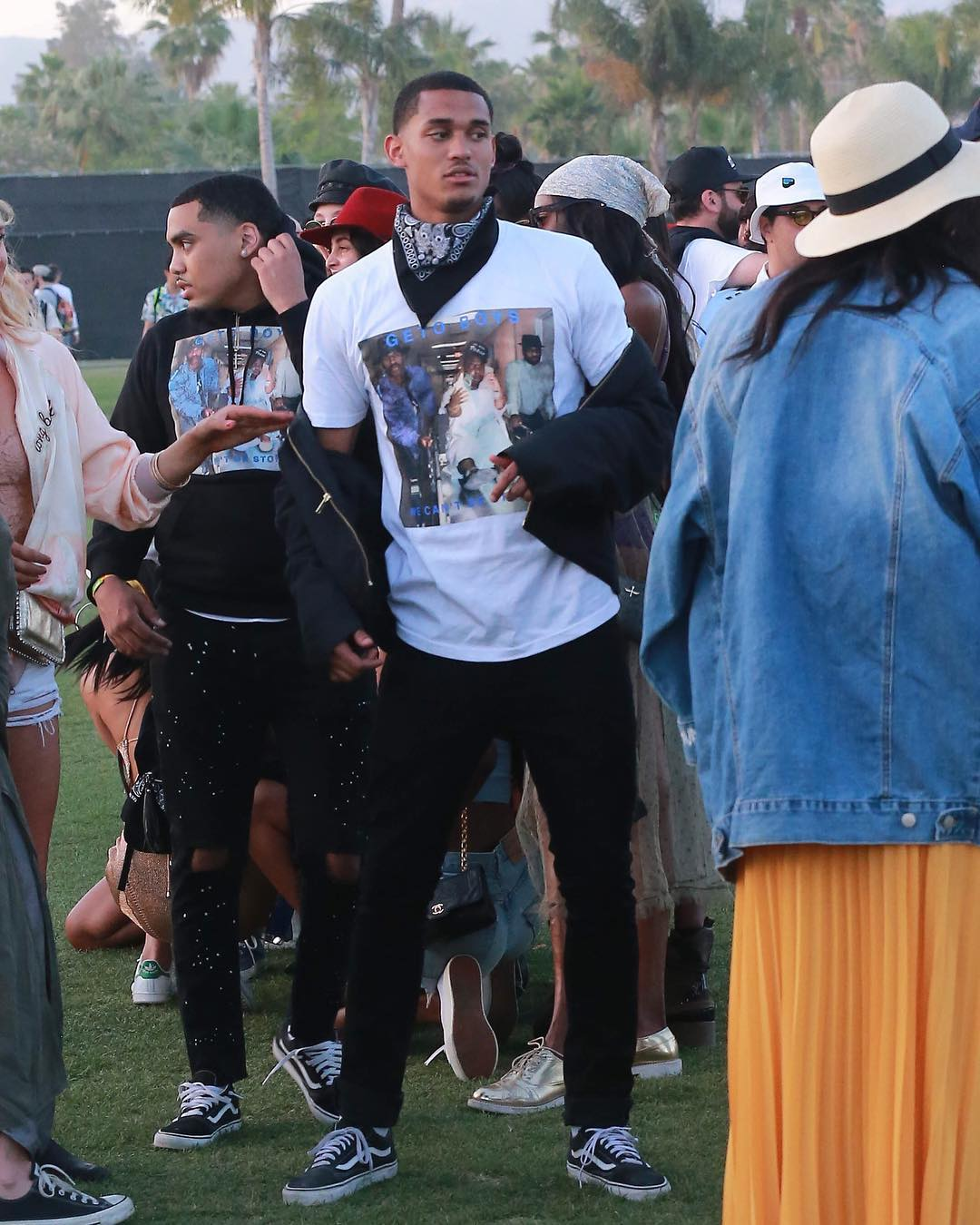 SPOTTED: Jordan Clarkson in a Rap-A-Lot Records x Supreme and Vans at Coachella