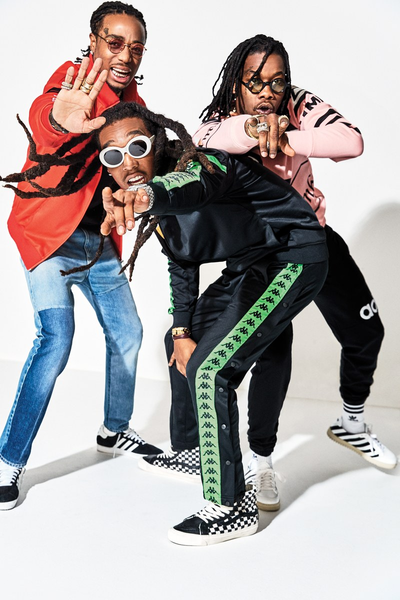 SPOTTED: Migos for GQ in 90's Inspired Sportswear