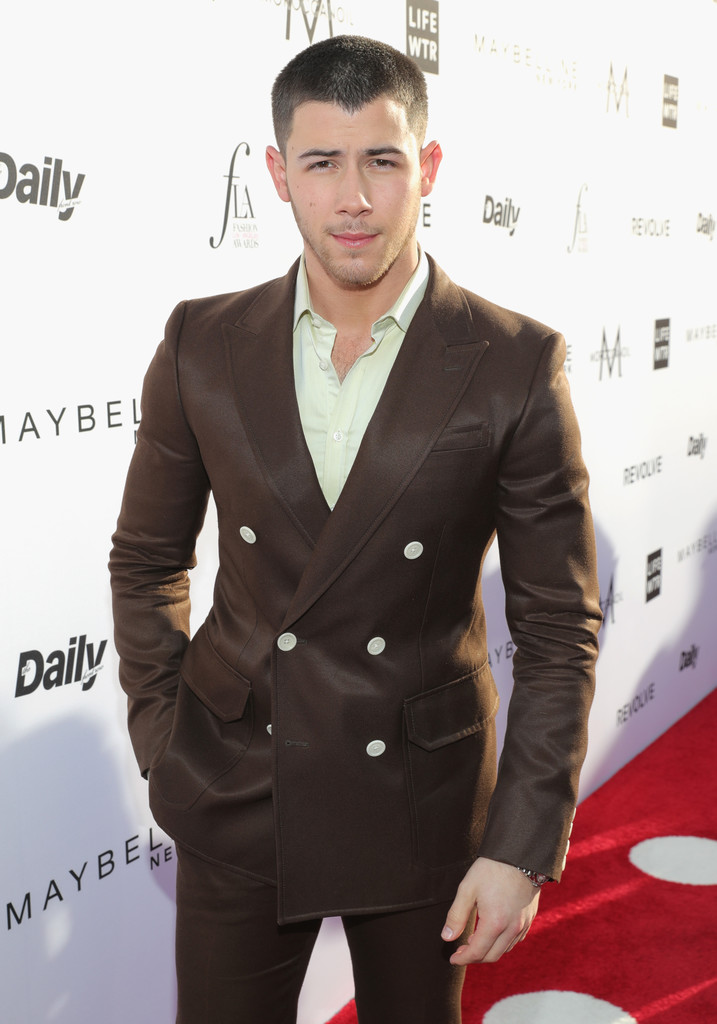 SPOTTED: Nick Jonas in Bally Suit At The LA Awards