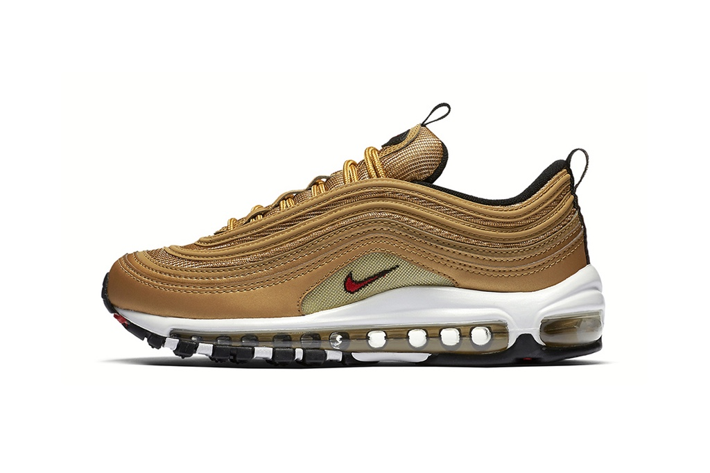 """The Nike Air Max 97 """"Metallic Gold"""" Launches In The US Next Month"""