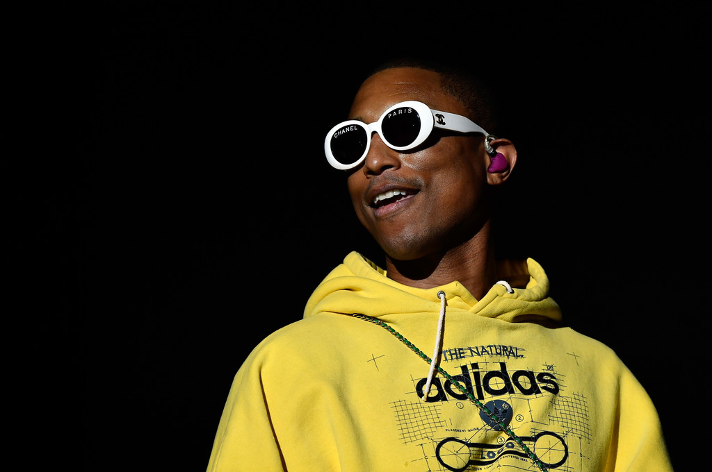 SPOTTED: Pharrell in Chanel Sunglasses and Adidas Hoodie at Coachella
