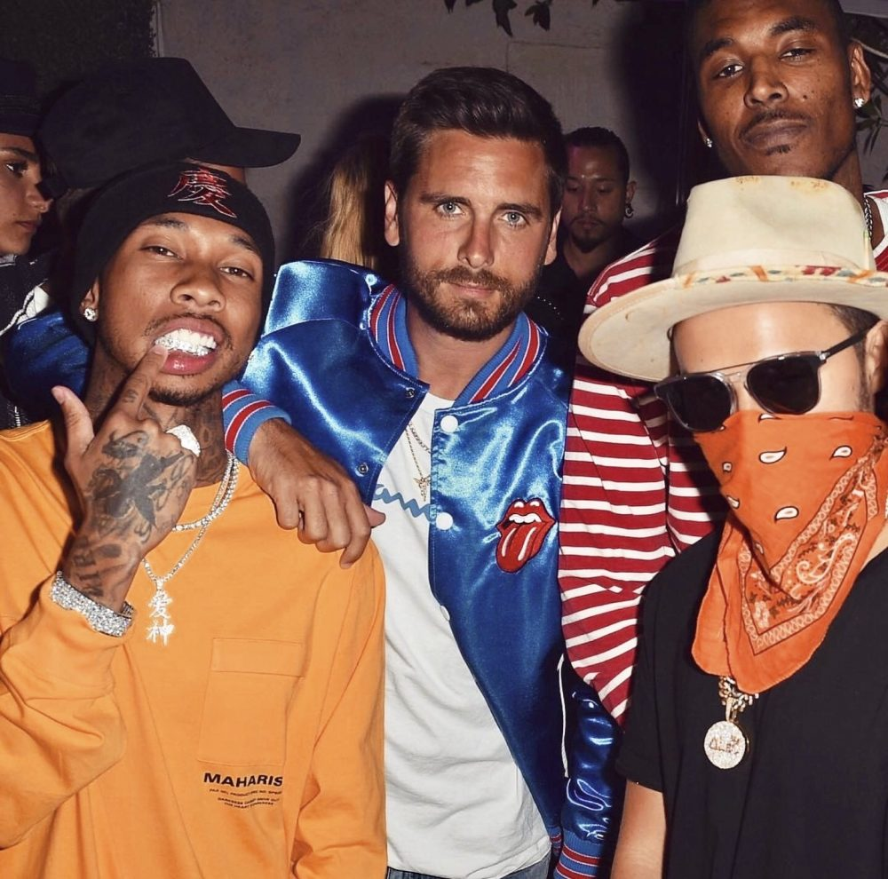 SPOTTED: Scott Disick in Tommy Hilfiger x The Rolling Stones and Champion with Tyga