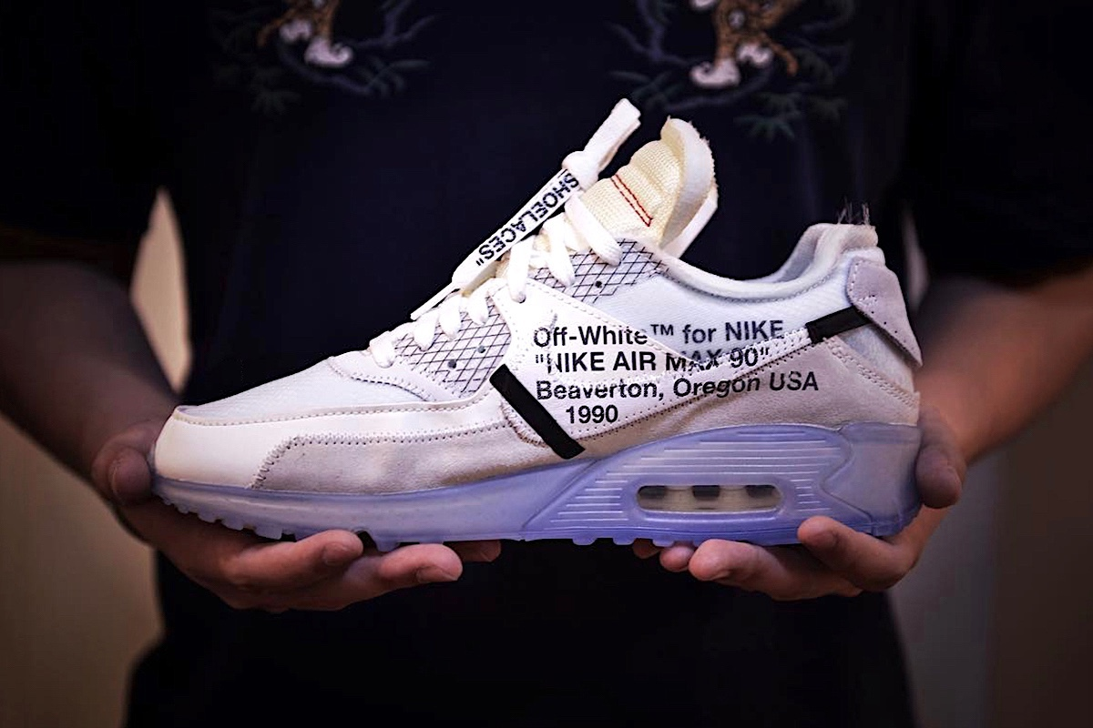 Closer Look At The OFF-WHITE x Nike Air Max 90 Sneaker