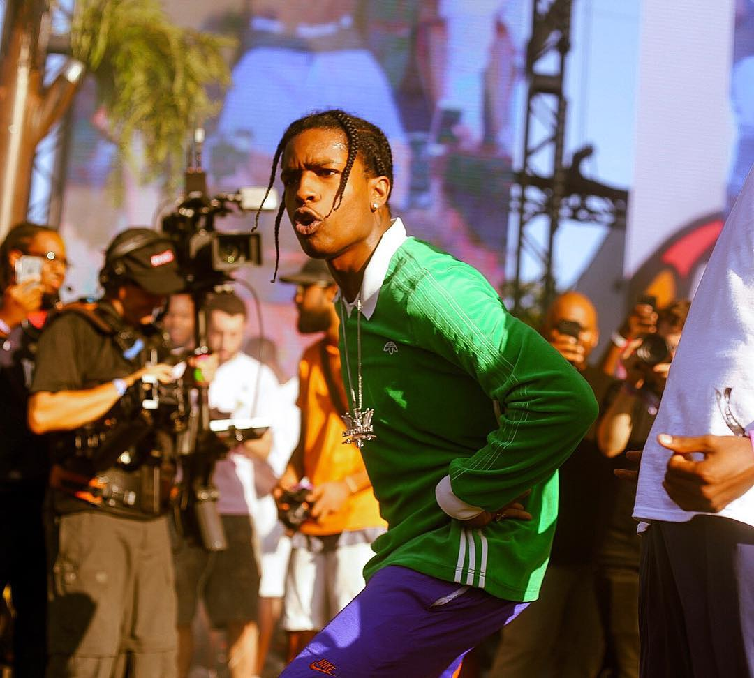 SPOTTED: A$AP Rocky in Alexander Wang x Adidas Originals