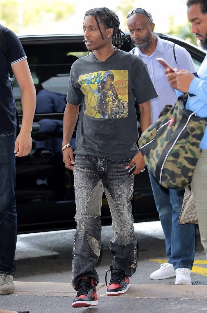 SPOTTED: ASAP Rocky Brings Back Baggy Jeans