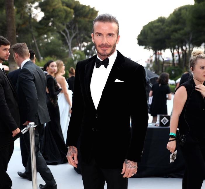 David Beckham attends the Cannes Amfar Gala
