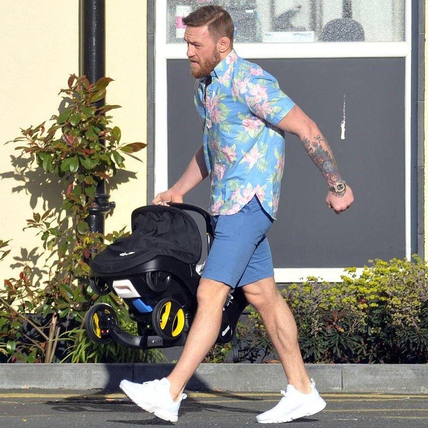 Conor McGregor Leave Hospital in Polo Ralph Lauren Shirt