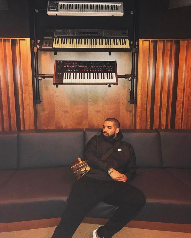 SPOTTED: Drake In Nike and Louis Vuitton Bag