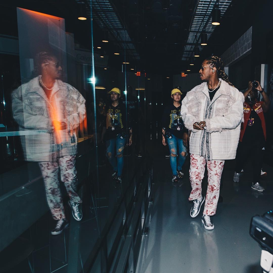 SPOTTED: Future In Saint Laurent T-Shirt And Gucci Pants And Belt