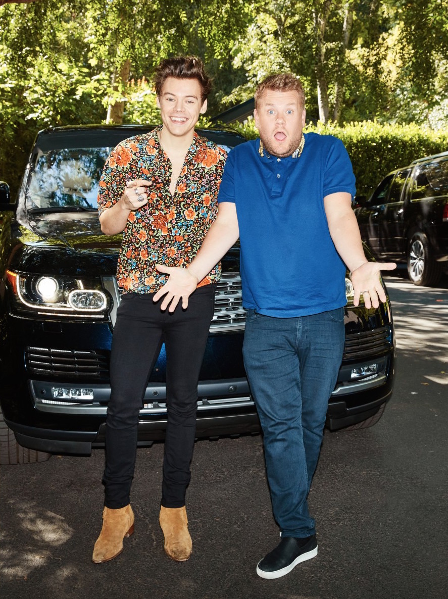 SPOTTED: Harry Styles And James Corden In Gucci Shirts