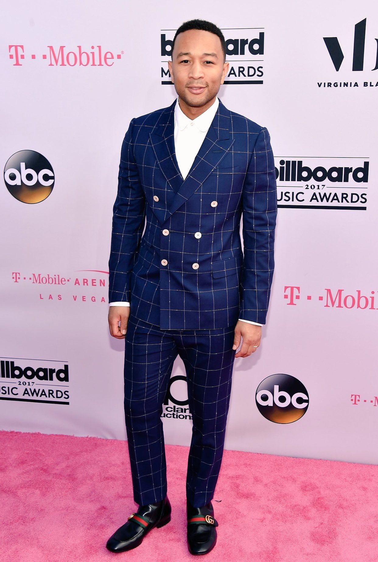 Spotted: John Legend Wears Gucci Suit & Loafers at Billboard Music Awards 2017