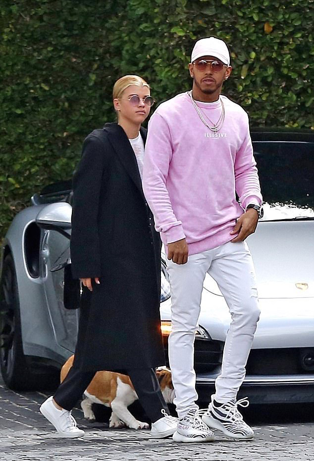 SPOTTED: Lewis Hamilton In Illusive London Sweatshirt And Adidas Yeezy 350 Boost Sneakers
