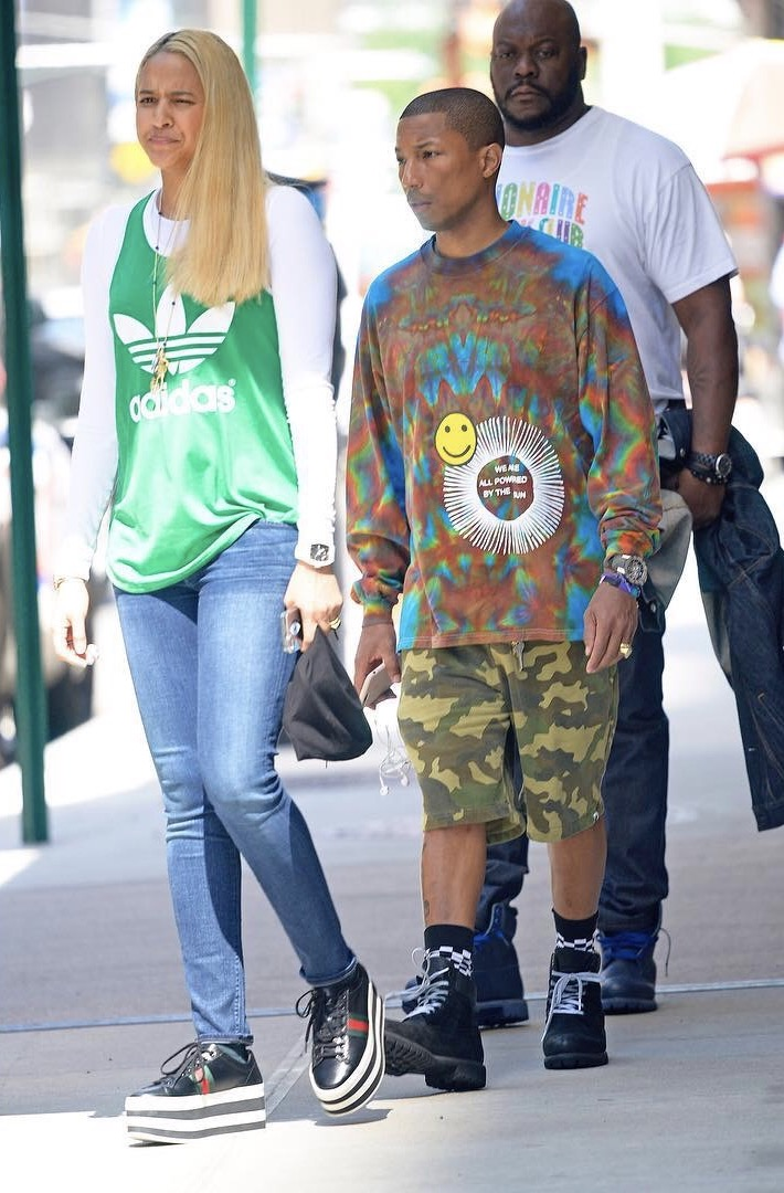 SPOTTED: Pharrell in CPFM & BAPE