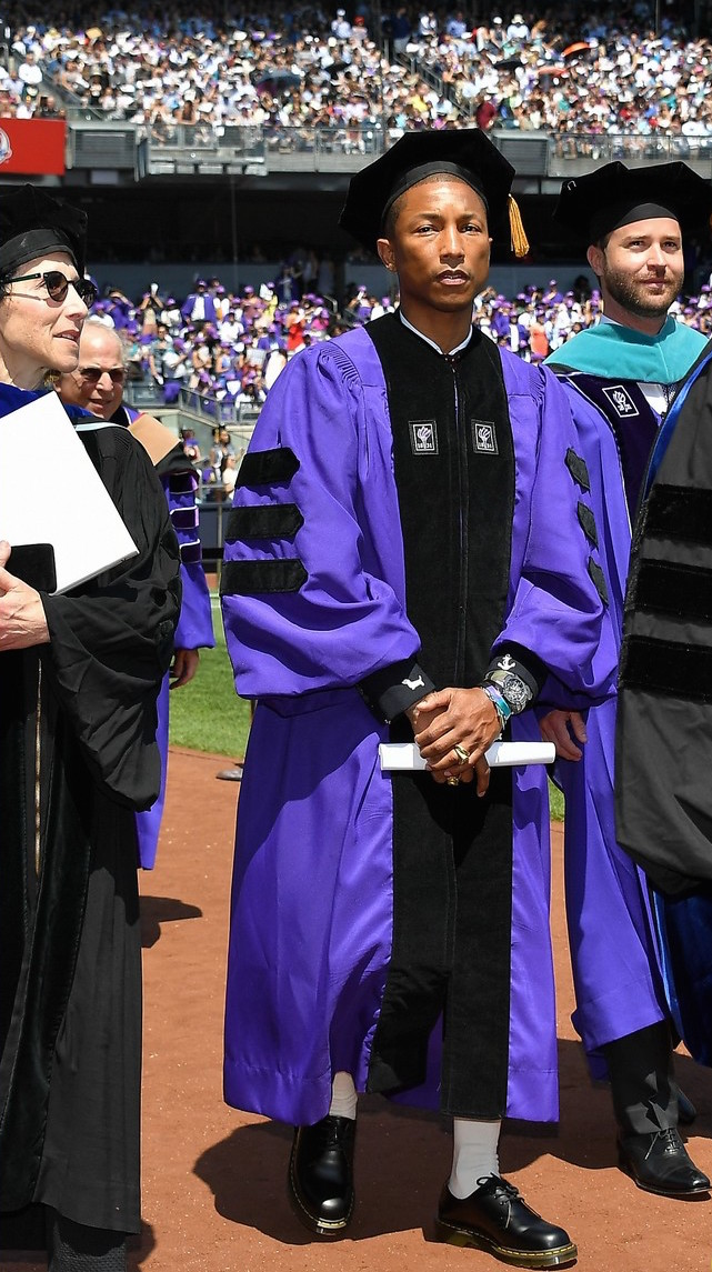 SPOTTED: Pharrell Williams Graduates In Dr Martens Boots