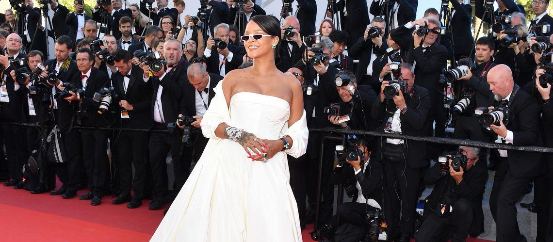 SPOTTED: Rihanna In Oversized Trenchcoat And Tony Montana T-Shirt