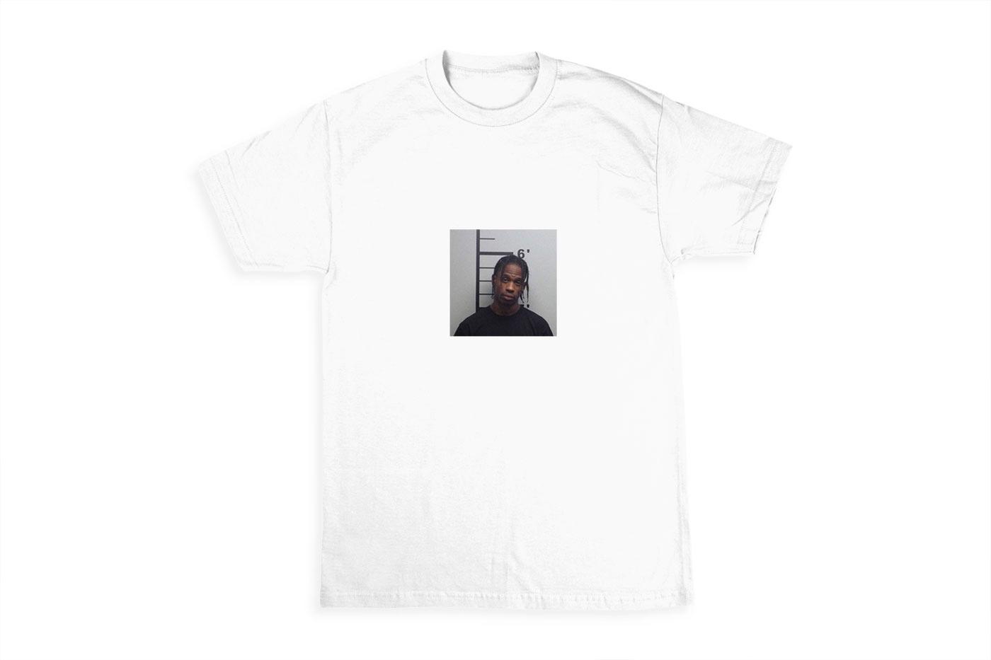 Travis Scott Releases Limited Edition Mugshot T-Shirt