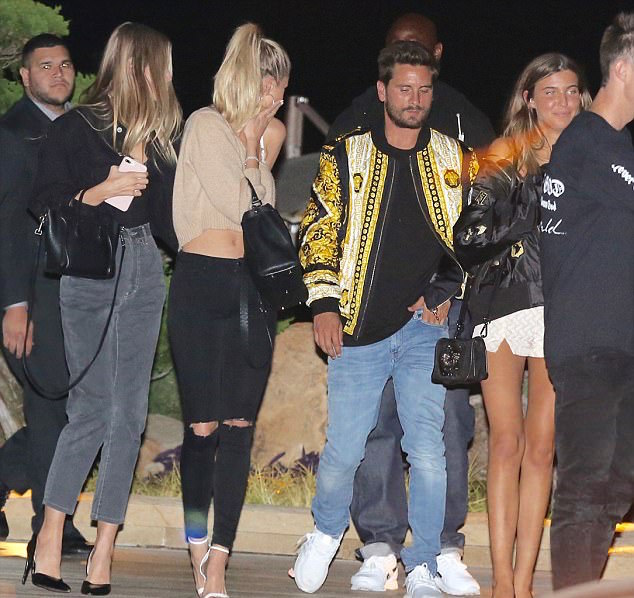 SPOTTED: Scott Disick In Versace Bomber Jacket And Adidas Sneakers
