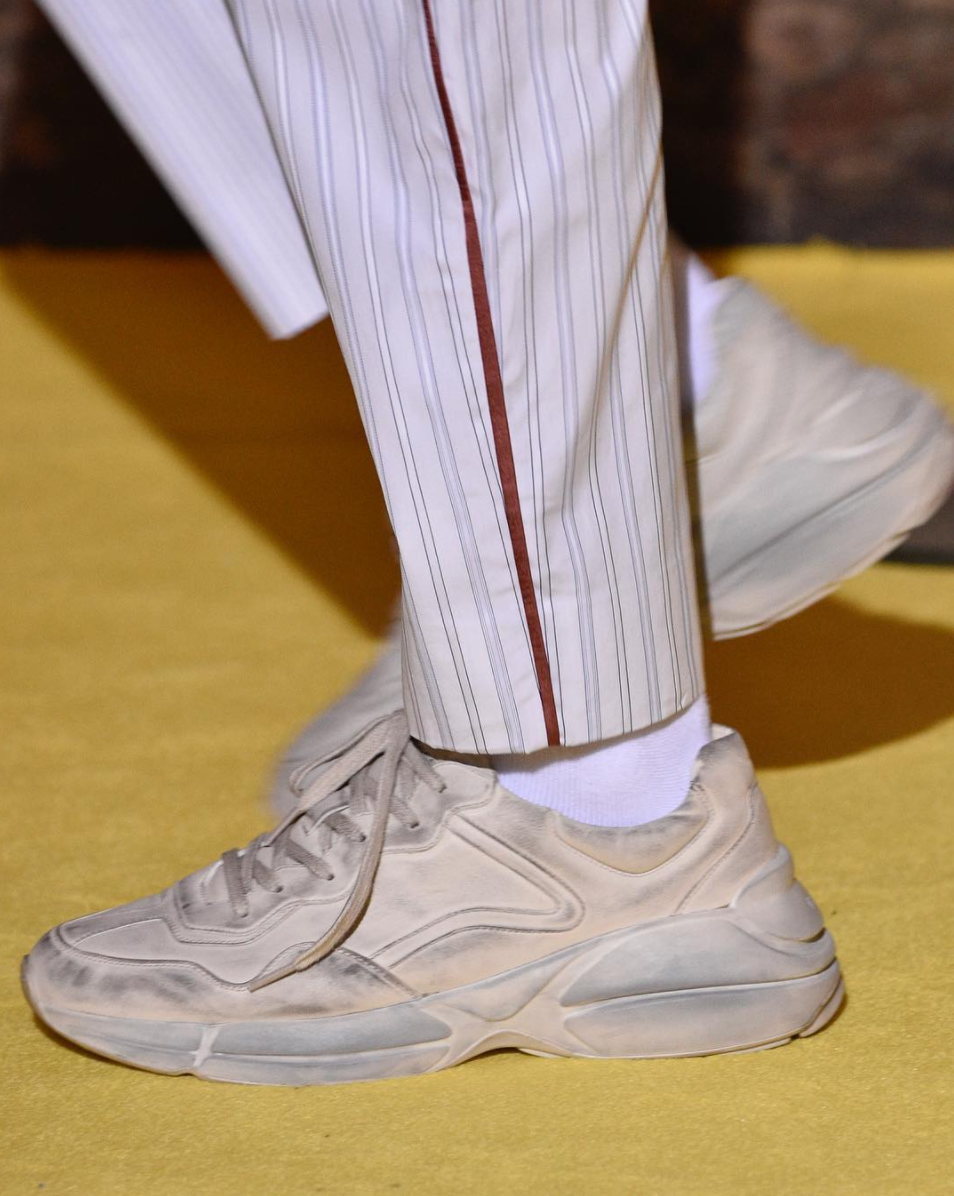 Gucci Jumps On The Ugly Sneaker Trend For 2018