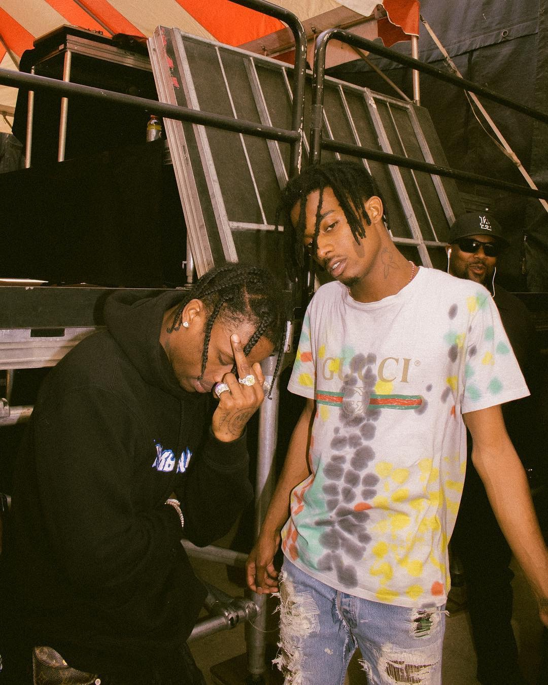 SPOTTED: Playboi Carti Wears Gucci with Travis Scott