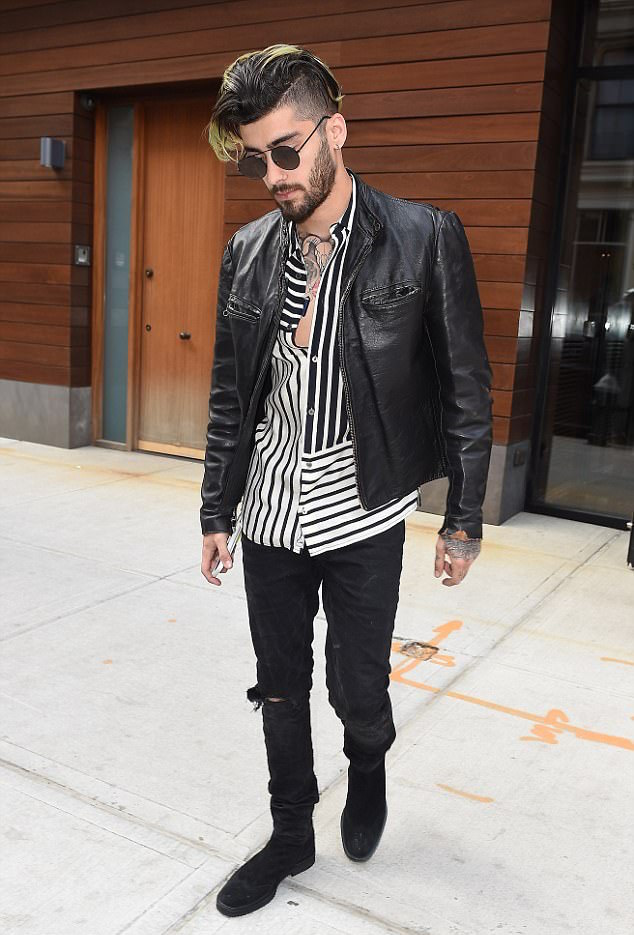 SPOTTED: Zayn Malik In McQ by McQueen and Vintage Leather Jacket