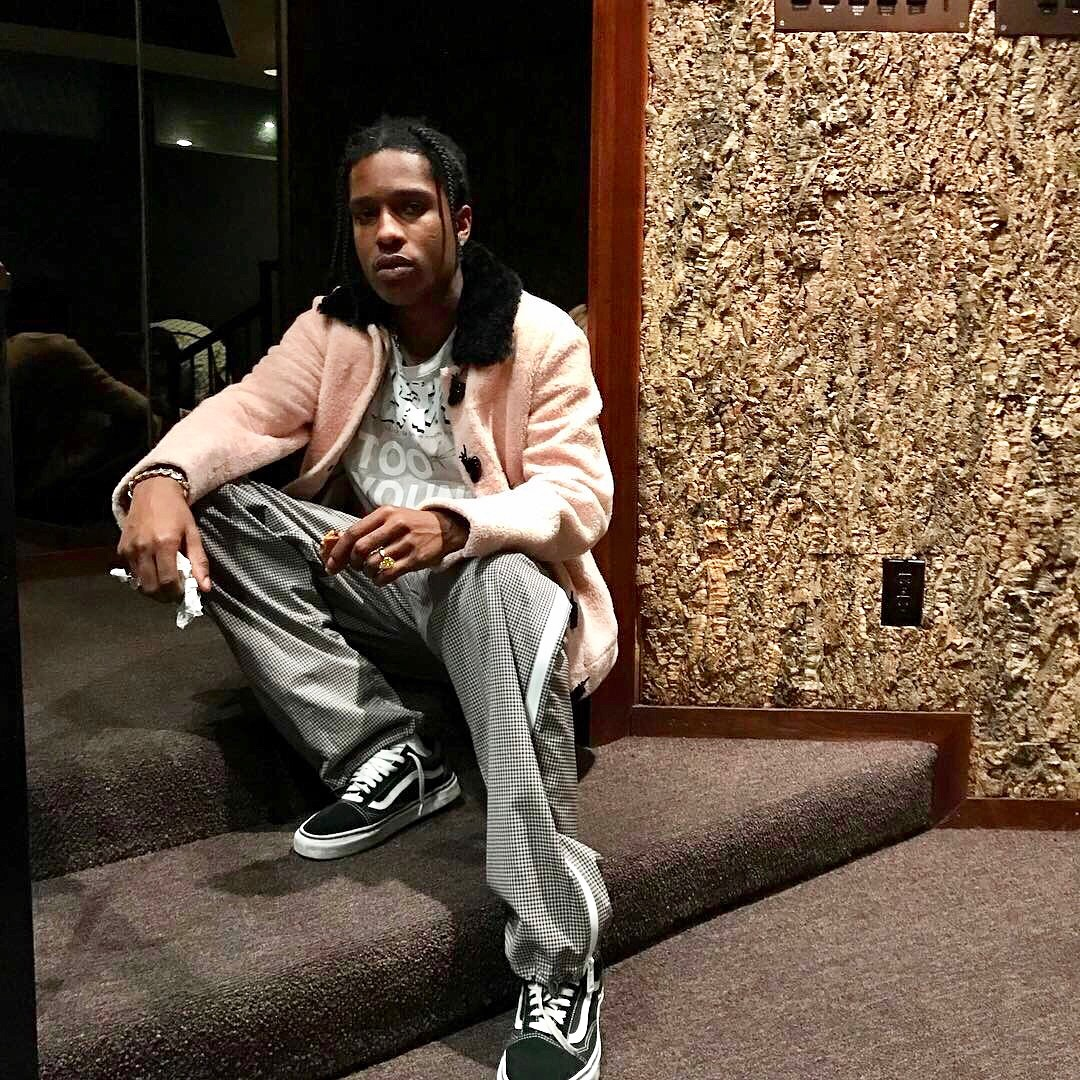 SPOTTED: A$AP Rocky In J.W. Anderson Jacket And Vans Sneakers
