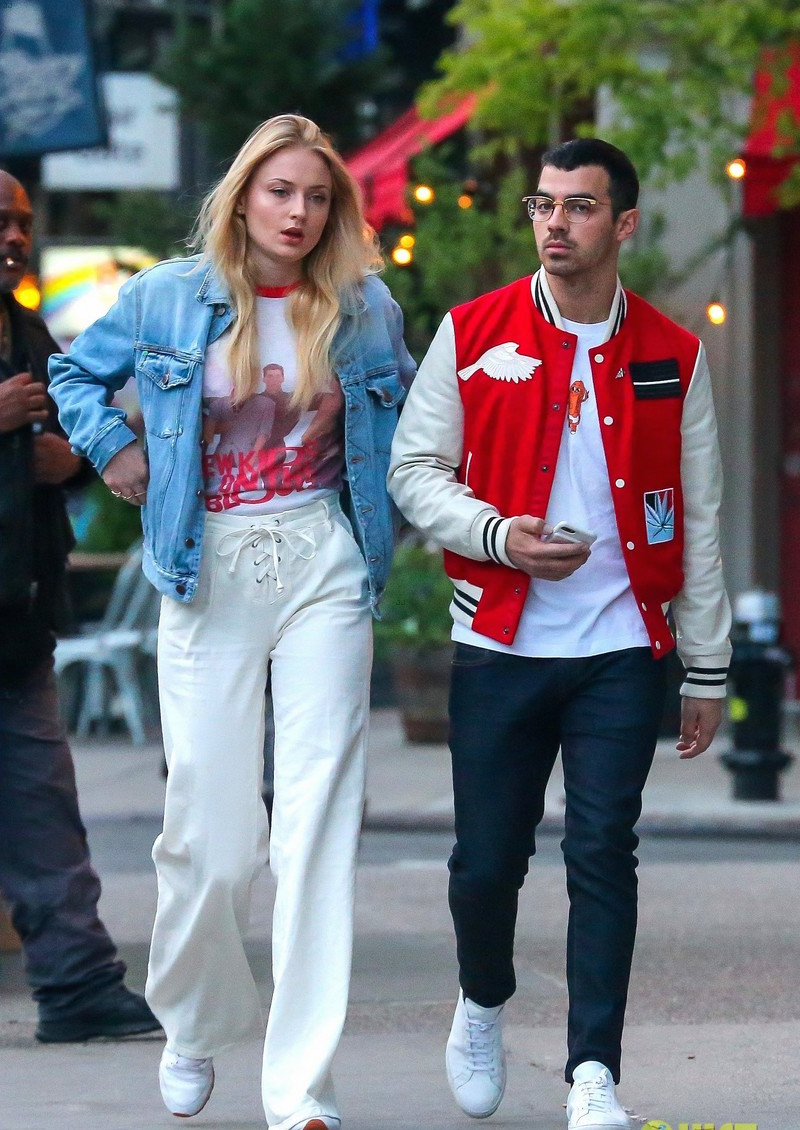 SPOTTED: Joe Jonas in Ovadia and Sons Jacket and Common Projects Sneakers
