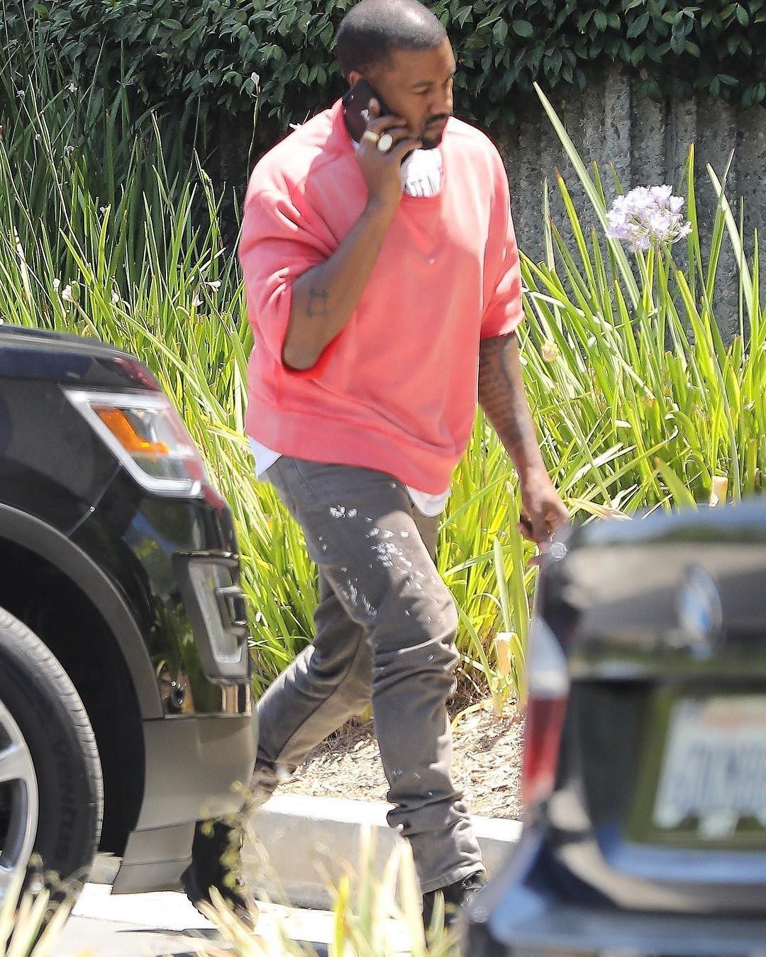 SPOTTED: Kanye West wearing vintage Helmut Lang jeans and Yeezy Season boots