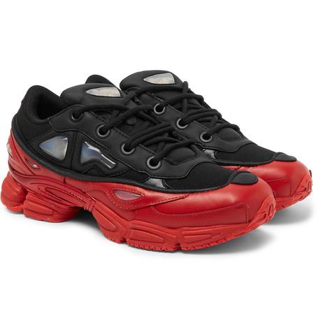 Raf Simons x adidas Ozweego III Leather And Mesh Sneakers
