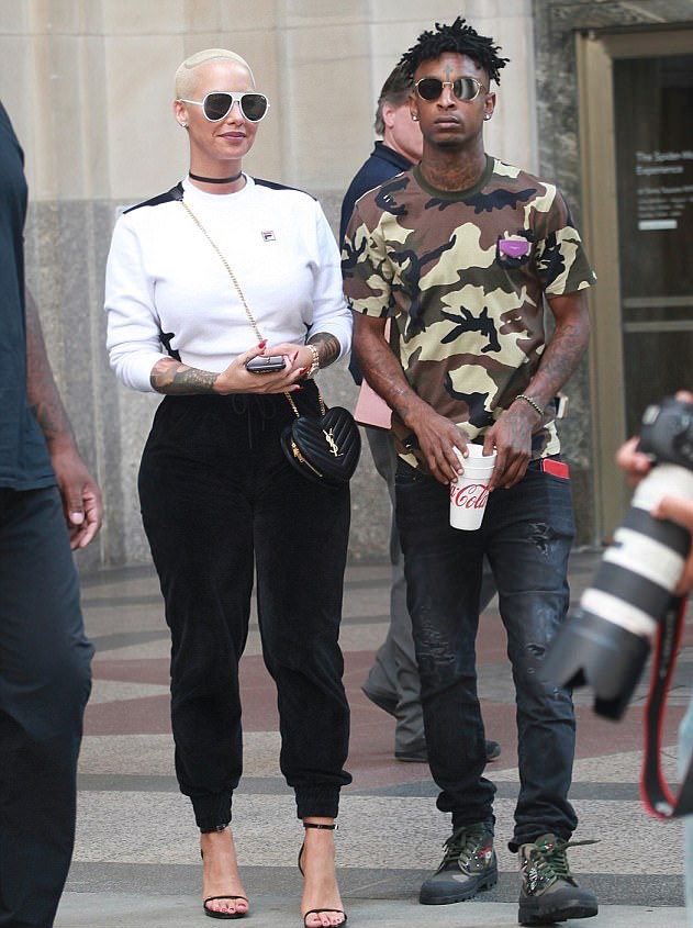SPOTTED: 21 Savage In Givenchy T-Shirt And Valentino Boots