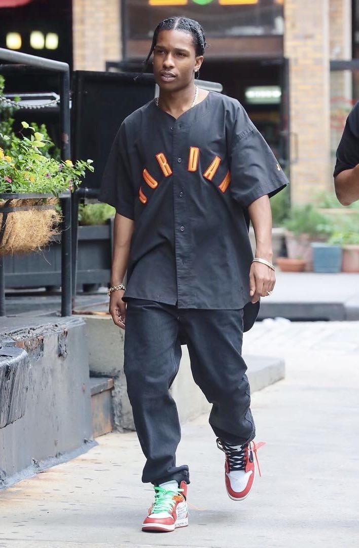SPOTTED: A$AP Rocky in Air Jordan and Off-White x Air Jordan Sneakers