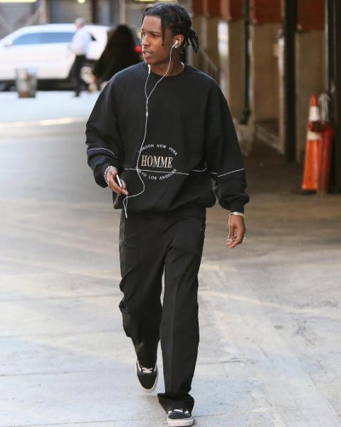 SPOTTED: A$AP Rocky Wears Balenciaga