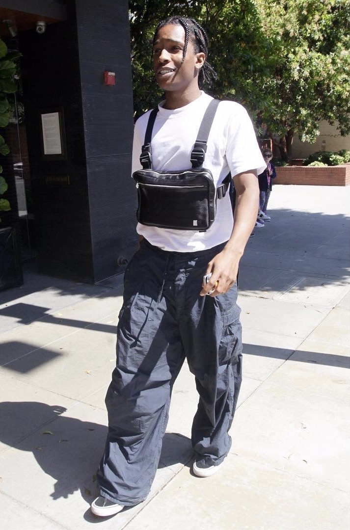 SPOTTED: A$AP Rocky In Baggy Pants And Vans Sneakers