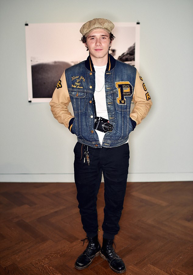SPOTTED: Brooklyn Beckham In Polo Ralph Lauren Jacket ,T-Shirt and Dr Martens Boots