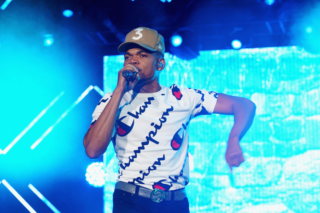 SPOTTED: Chance The Rapper in Champion and Gucci at Essence Festival