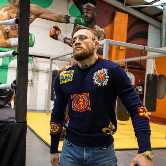 SPOTTED: Conor McGregor In Alexander McQueen Sweater