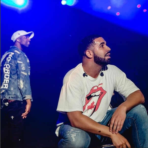 SPOTTED: Drake Performs Wearing The Rolling Stones T-shirt & Supreme Boxers