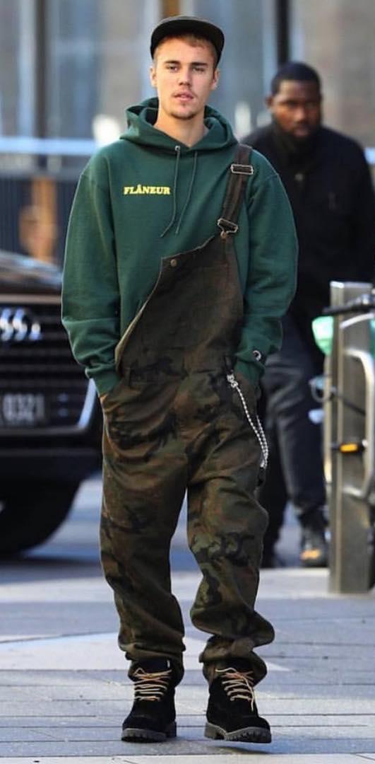 SPOTTED: Justin Bieber Wears Louis Vuitton x Supreme Overalls in Australia