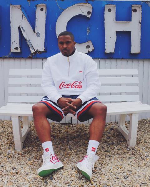 Nas Wears KITH x Coca-Cola Collaboration