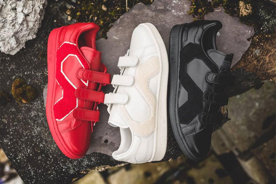 Raf Simons x Adidas Originals Releases Stan Smith Comfort Badge Sneaker