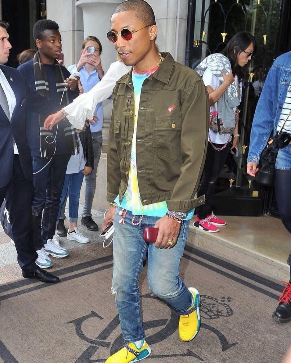 SPOTTED: Pharrell Williams in new Human Race NMDs