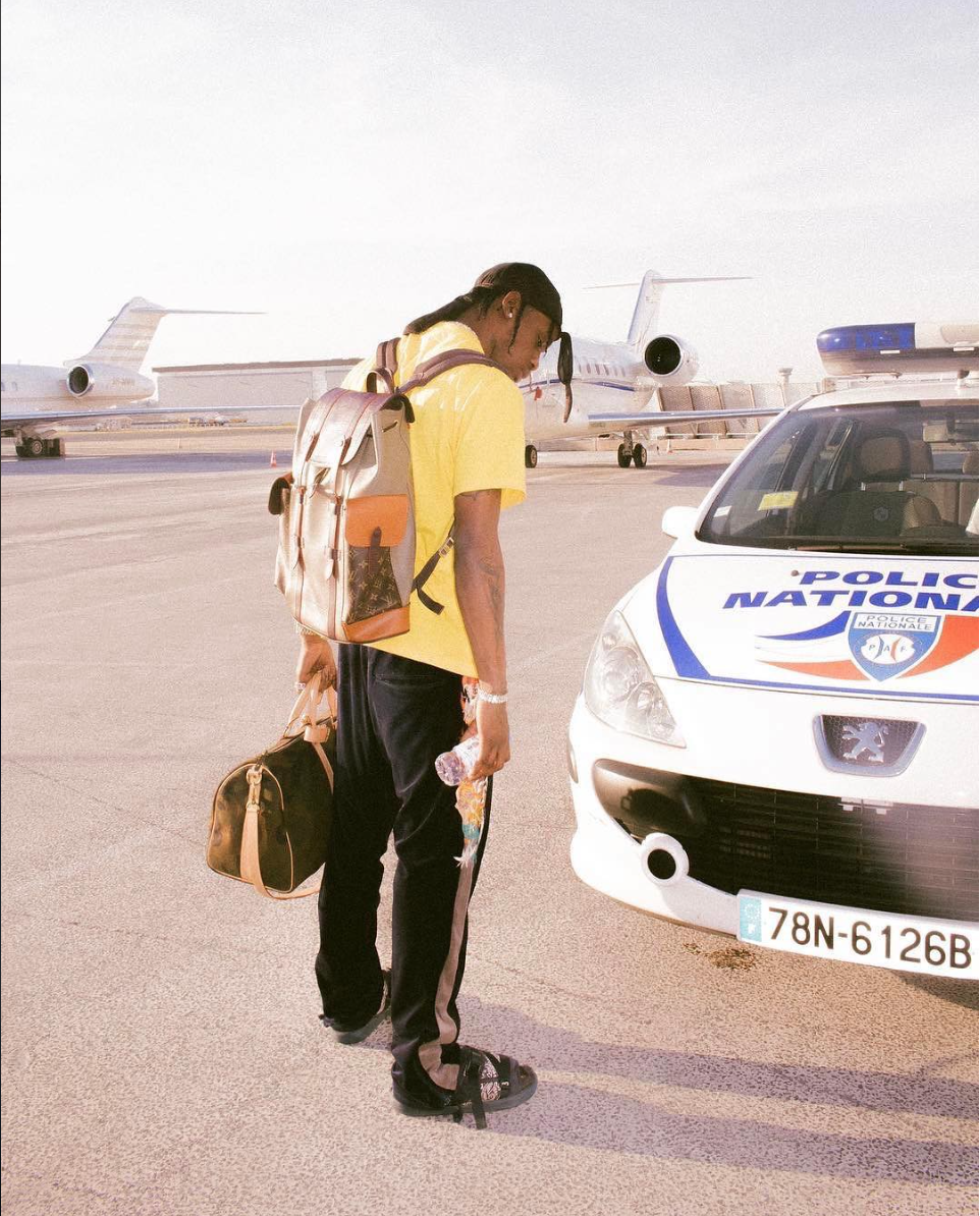 SPOTTED: Travis Scott in Louis Vuitton and Doublet