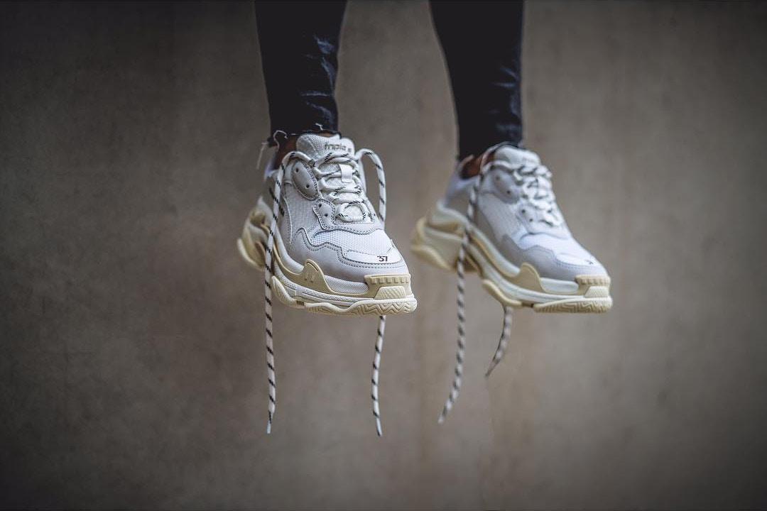Balenciaga's Triple S 'Cream' Sneaker