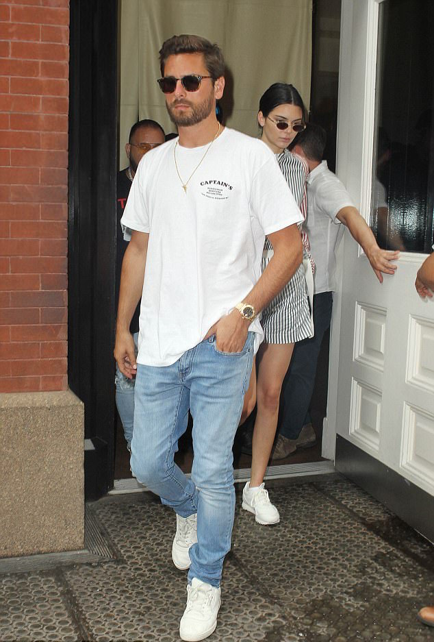 SPOTTED: Scott Disick In Captain Fin T-Shirt And Adidas Powerphase Sneakers